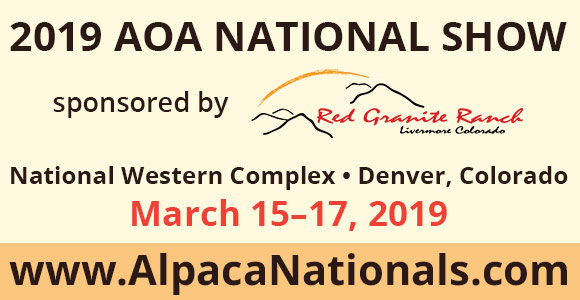 AOA National Alpaca Show sponsored by Red Granite Ranch
